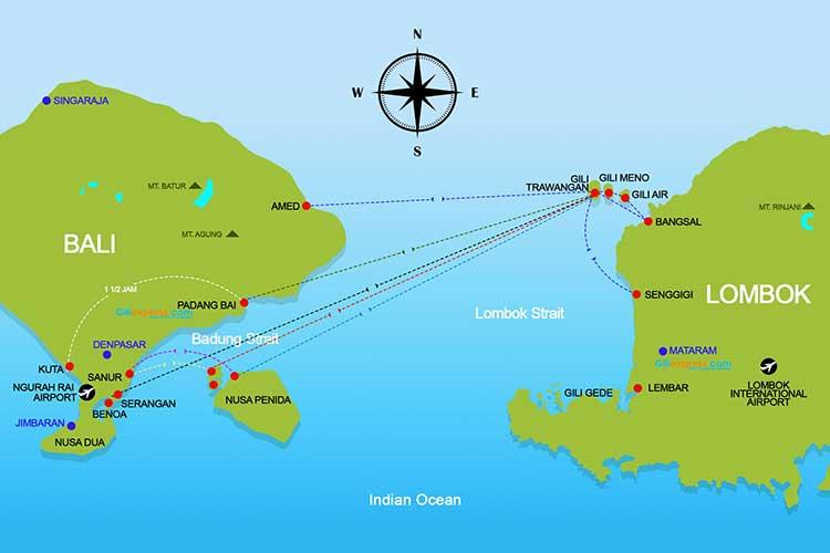 Peta Rute Kapal Cepat